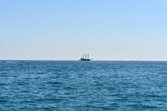 Old marine vessel in the sea Royalty Free Stock Photos