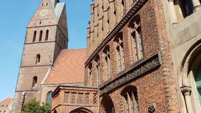 Old market church in Hannover Germany stock video
