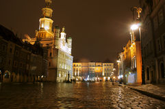 Old Market with City Hall in Poznan Royalty Free Stock Photography
