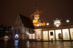Old Market with City Hall in Poznan Royalty Free Stock Image