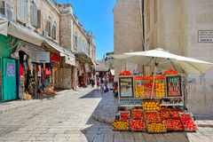Old market of Jerusalem. Stock Photography