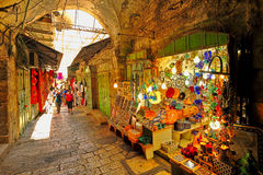 Old market in Jerusalem. Royalty Free Stock Photography
