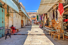 Old market in Jerusalem. Royalty Free Stock Photo