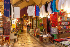 Old market of Jerusalem, Israel. Royalty Free Stock Image