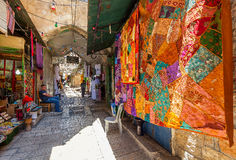 Old market in Jerusalem, Israel. Royalty Free Stock Photo
