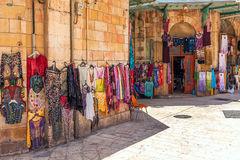 Old market in Kerusalem, Israel. Royalty Free Stock Photos