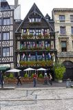 The old market place  in Rouen, France. stock images