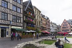 The old market place  in Rouen, France. stock photography
