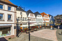 Old market place in St. Wendel, Fruitmarket Royalty Free Stock Photo