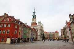 Old market of Poznan Stock Images