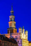 Old Market in Poznan, Poland by night Stock Image