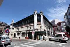 Old Market in Santander, Spain Stock Photo