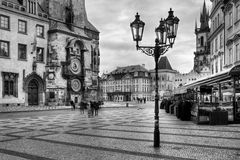 The Old Market Square and Church of Our Lady before Tyn in Prague Stock Image