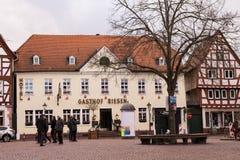 Old market square in city #2. Seligenstadt Stock Photo
