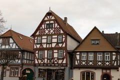 Old market square in city. Seligenstadt Rhein Royalty Free Stock Image