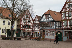 Old market square in city #3. Seligestadt Rhein Main Royalty Free Stock Photos