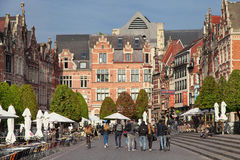 Old Market Square of Leuven Royalty Free Stock Photography