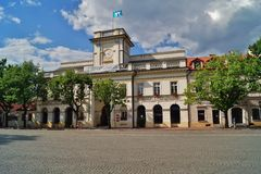 Old market square in Lowicz, Poland. Old market square in Lowicz - Poland royalty free stock photos