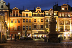 Old Market Square at night. Poznan. Poland Stock Photo