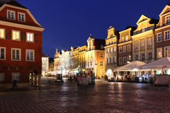 Old Market Square at night. Poznan. Poland Stock Photography