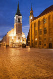 Old Market Square at Night in Torun Royalty Free Stock Images
