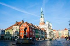 Old Market Square in Poznań. Renaissance Old Market Square in Poznań, Poland Stock Photos