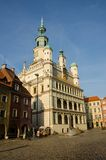 Old Market Square in Poznań. Renaissance Old Market Square and Town Hall in Poznań, Poland Royalty Free Stock Image