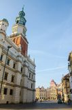 Old Market Square in Poznań. Renaissance Old Market Square and Town Hall in Poznań, Poland Royalty Free Stock Images