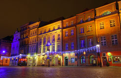 Old Market Square in Poznan, Poland Stock Photos