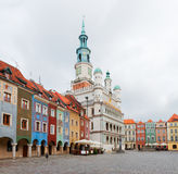Old market square in Poznan, Poland Stock Photography