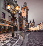Old Market Square in Prague in the evening Royalty Free Stock Photos