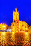 Old market square in Prague at night Royalty Free Stock Photo