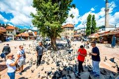 Old market square in Sarajevo Royalty Free Stock Photos