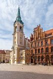 Old Market square in Torun, the oldest city in Poland. royalty free stock photos