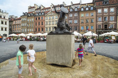 Old market square warsaw poland europe Stock Photography