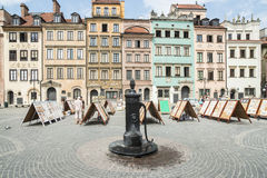 Old market square warsaw poland europe Royalty Free Stock Photography