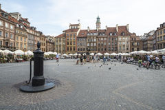 Old market square warsaw poland europe Royalty Free Stock Image