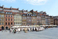 Old Market Square in Warsaw Royalty Free Stock Photo
