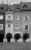 Old Market with townhouse. In Poznan, Poland Stock Photography