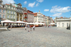 Old marketplace in Poznan Royalty Free Stock Images