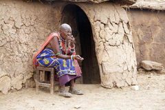 Old Masai woman Royalty Free Stock Photo