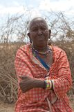 Old Masai woman Royalty Free Stock Images