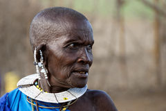 Old masai woman Royalty Free Stock Photography
