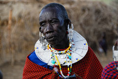 Old masai women Royalty Free Stock Image