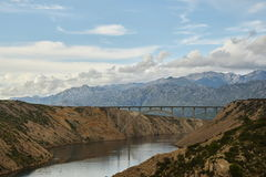 Old Maslenica-bridge Royalty Free Stock Photo