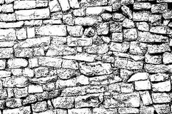 Old masonry uneven wall background Stock Photo
