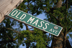 Old Mass Avenue Stock Images
