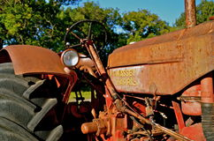 Old Massey Harris tractor Stock Image