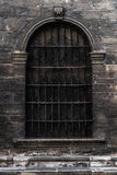 Old massive austrian doors of 19 century Royalty Free Stock Photo