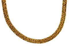 Old massive gold chain Stock Photography